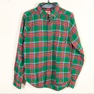 Woolrich + Dogfish Head Plaid Flannel Button Down